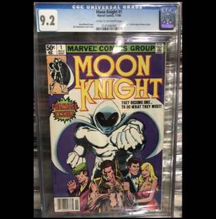 MOON KNIGHT #1 (1980) CGC 1st Series