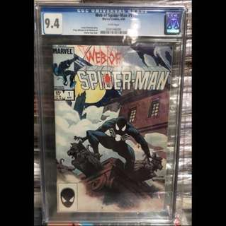 WEB OF SPIDER-MAN #1 (1985) CGC 9.4 1st Series