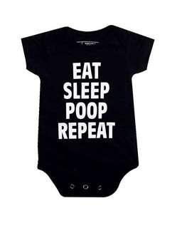 Eat sleep poop repeat baby romper