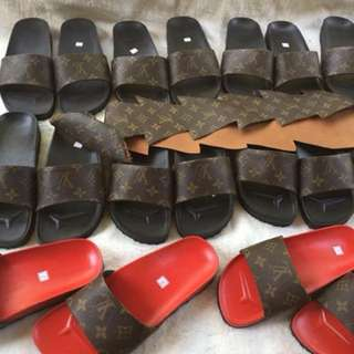 Authentic LV strap slippers