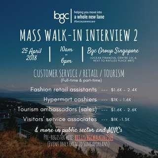 BGC Mass Walk-In Interview 2 (Singaporeans Only)