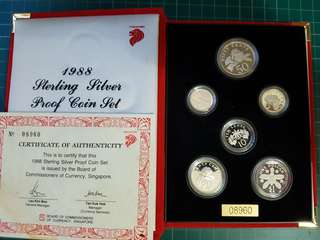 1988 Sterling silver proof coin set