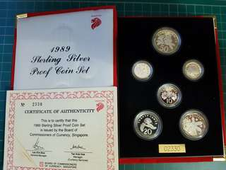 Sterling silver coin set 1989
