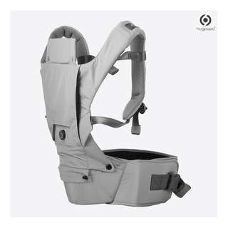 🚚 Hugpapa 3-in-1 Dial-Fit Technology Hip Seat Carrier (Light Grey)