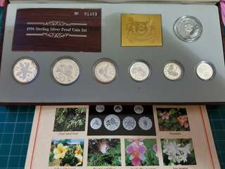 Sterling silver proof coin set 1994