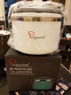 New La Gourmet Stainless Steel Lunch box 1L