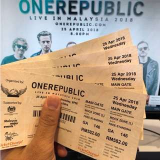 One Republic Live In Malaysia 2018