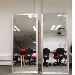 歐式鏡子银色80*180cm支架款 共3塊 一塊$450, 三塊全買$1200 Mirror