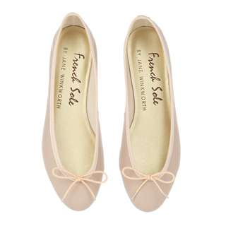 FRENCH SOLE INDIA NUDE LEATHER WITH NUDE TRIM