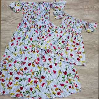 REPRICED! Mom and Baby Garterred dress
