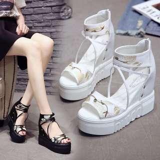 Korean Platform Heel Shoe