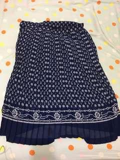 🚚 深藍海軍 中長 紗裙