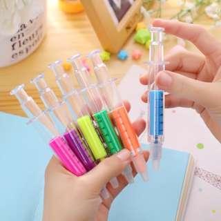 Syringe Highlighter (Pack of 10)