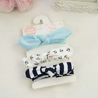 Instock - 3pc headband, baby infant toddler girl children cute glad 123456789 lalalala