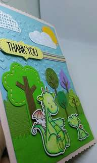 Thank You Card with mini Book Mark