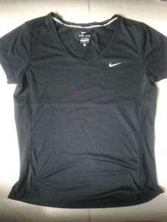 RESERVED Nike Running black drifit shirt