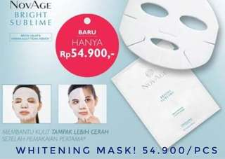 Whitening Mask. Novage bright sublime
