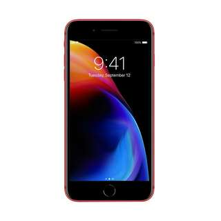 Iphone 8 plus 64GB Red limitid edition cas and credit