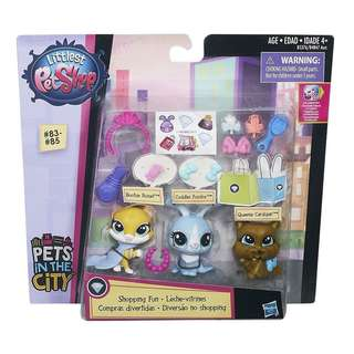 Littlest Pet Shop - Shoppings & Parties - Genuine Hasbro