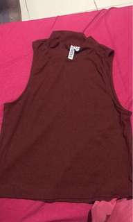 H&m Divided maroon