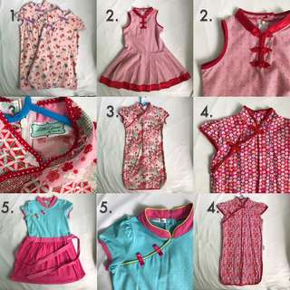 Girl's Cheong Sam Dresses