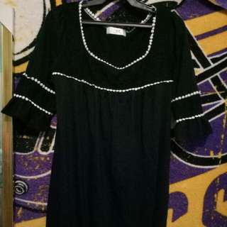 A very cute black dolly dress
