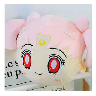 Chibi  moon travel pillow with blanket