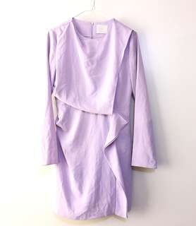 Charity Sale! Authentic Refill Made in Korea Lavender Evening Dress Graduation Dress Office Formal Women's Dress Size Medium lavendar dress trend