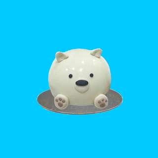Ice bear piñata cake