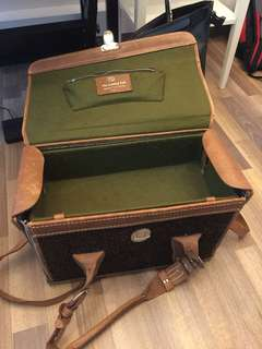 Vintage leather camera bag