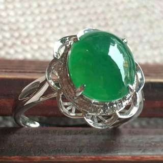 Grade A myanmar jade with cert 18k gold