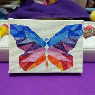 Butterfly on canvas painting