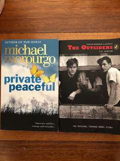 Private peaceful the outsiders school books