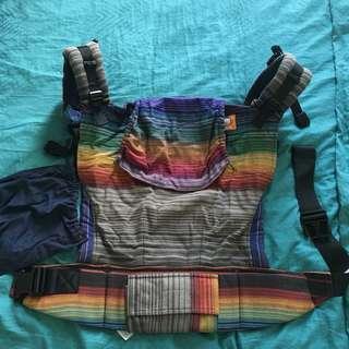 Tula Maya's rainbow Toddler Half WC with Custom Purpura Hoodie