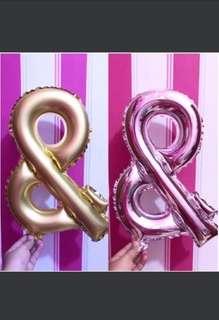 "& OR ampersand Balloon Foil 16"" (40cm)"