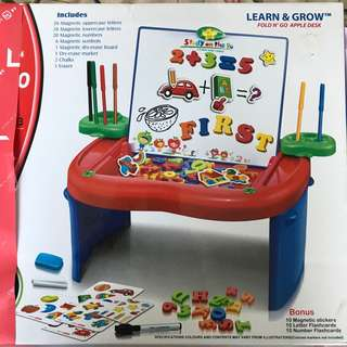 BN First Classroom Learn & Fold N' Go Apple Learning Drawing Desk With Alphabet & Numbers