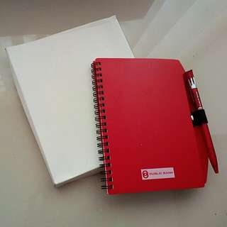 Plastic Cover Note Book with Pen