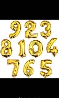 """Jumbo Balloon Number 32"""" (80cm)"""