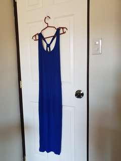 Summer Sale - Blue Fitted Maxi dress