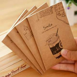 Mini Notebook - Brown (Pack of 10)