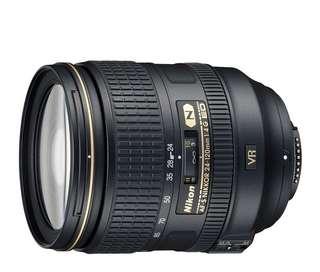 Nikkor Lens AF-S 24-120mm f/4 G ED VR