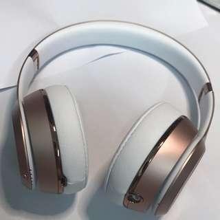 beats solo3藍牙無線耳機玫瑰金