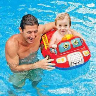 Intex Inflatable Fire Truck Baby Floaters Boat
