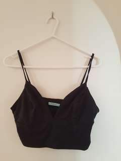 Kookai black crop top size 2