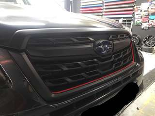 Forester grill matte black wrap