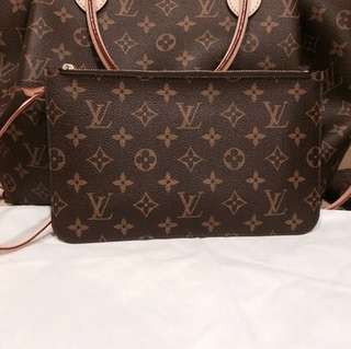 Authentic LV neverfull mm Clutch