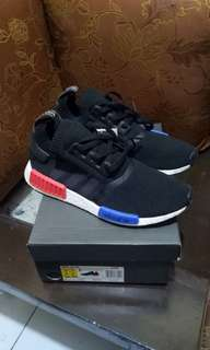 Adidas nmd r1 og primeknit core black blue red original from perfect kicks pk 100%