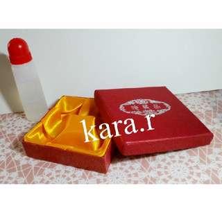 Gift Present : Bangle Cardboard Case Holder Storage Square Red #1
