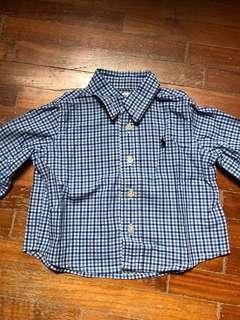 Authentic Polo Ralph Lauren checkered shirt (3mo)