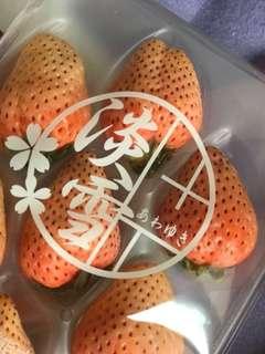 Japanese Premium Pink Strawberries